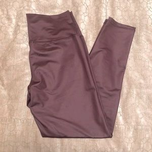 Aerie Shine leggings dusty rose pink size XL NWT